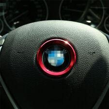 Ring cercle contour de volant pour BMW design tuning ROUGE emblème chromé