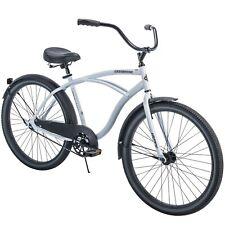 Men's Beach Cruiser Bike 26 Inch Perfect Fit Frame Aluminum Comfort Ride, White