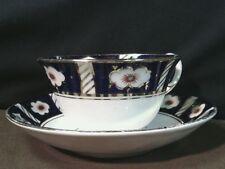 Royal Stafford Guaranteed Bone China Cobalt Blue/Gold Tea Cup Set,England
