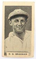 c1932 BRADMAN CIGARETTE CARD. GODFREY PHILLIPS (AUST), BDV BACK