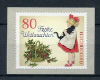 Austria 2018 MNH Christmas Vintage Girl with Cat 1v S/A Set Cats Stamps