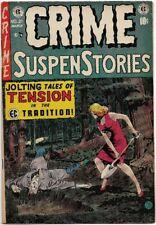 CRIME SUSPENSTORIES #21 (1954) FN 6.0  GOLDEN AGE EC HORROR!