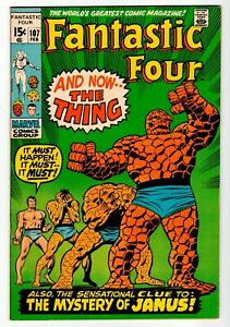 FANTASTIC FOUR #107 - Buscena Art - VF/NM Marvel 1971 Vintage Comic