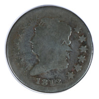 1812 Classic Head Cent Very Good