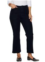 Isaac Mizrahi Womens Jeans Sz 8 Denim Regular Flare Ankle Length Dark Indigo