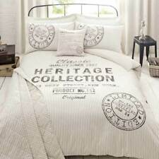 Fusion Rossford Heritage Collection Reversible Bedspread, Natural, 200 x 200 Cm