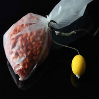 EG_ 50X Carp Fishing Bait Bag PVA Mesh Dissolve Bags Water-Soluble Tackle Tool