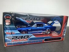 1967 FORD MUSTANG GT DIE CAST MODEL BLUE 1/24 BY MAISTO PRO RODZ 31094