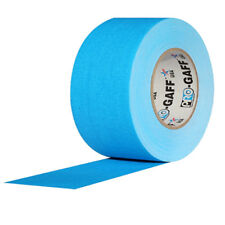 """Pro Gaff Fluorescent Blue Gaffers Tape 3"""" x 55 yard Roll (Pack of 16)"""