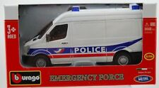BBURAGO MERCEDES-BENZ SPRINTER POLICE 1:50 32006 DIE CAST METAL NEW IN BOX