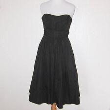 J.Crew Black Strapless Cotton 50's Cocktail Bridesmaid Dress w/ Full Skirt
