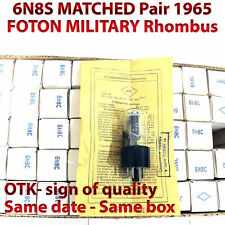 6N8S 6Н8С Matched Pair FOTON MILITARY tube 1965! 1578 6SN7 OTK New In Box NOS