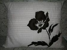"Dkny ""Soho Garden"" Ivory Throw Pillow Beautiful 16"" X 20"" Nip"