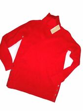 MICHAEL KORS womens Red Knit Mock turtle neck Sweater Size Small S