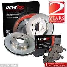 Brake Discs Full Axle Set 259mm Vented Fits Nissan Micra 1.2 Front Brake Pads