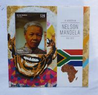 2013 St VINCENT & GRENADINES NELSON MANDELA MEMORIUM BEQUIA STAMP MINI SHEET 2