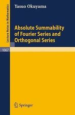 Absolute Summability of Fourier Series and Orthogonal Series 1067 by Y....