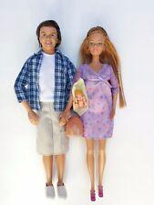 Pregnant Midge Barbie Doll Alan Happy Family Baby Bump Original Clothes Lot
