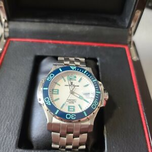 Jerome Lemars Chagall Noir Swiss Automatic 45mm Watch w/ Box