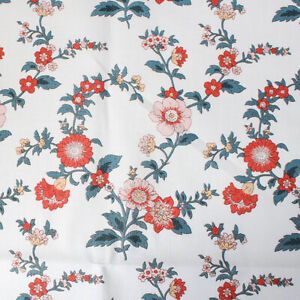"""Cotton Fabric by the Yard Flower Fabric 44"""" Wide Cozy Oatmeal Vintage Laceking"""