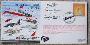 FDC RAF 1st Flight Hawker Siddeley HS1182,21 Aug 74,103/500,signed Simpson + 2
