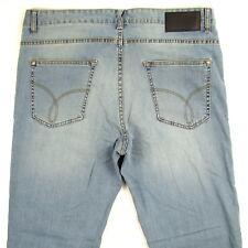 Calvin Klein Straight Leg Mens Jeans LIGHT BLUE New SIZE 36 X 32 MSRP $69.50