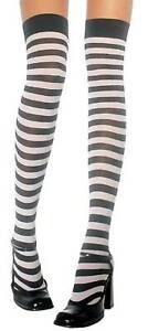 Hold-Ups Striped Stockings IN Various Colours