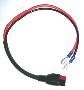 """Torberry golf  trolley battery connection lead, Extra long 16"""""""