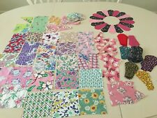 VINTAGE FEED SACK SQUARES & OTHER MISC. QUILT PIECES~ 203 TOTAL