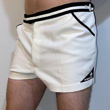 """Vtg 70s 80s KNEISSL White TENNIS SHORTS Polyester 2.5"""" Wimbledon Borg MENS 36"""