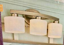 allen + roth Merington 3-Light Nickel Transitional Vanity Light Bar