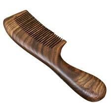 Unisex Sandalwood Comb Women Men Wood Anti-static Fine-tooth Comb Wooden Handle