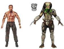 """NECA Predator """"batalla final"""" 2 Pack Set-Holandés Schaefer V Figura De Cazador De La Selva"""