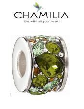 Genuine chamilia 925 SILVER & GREEN SWAROVSKI Verde Mosaico encanto grano, Primavera