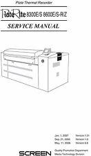 Screen Plate Rite 8300E-S  8600E-S-RZ Service Manual (091)