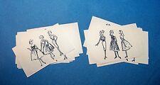 Midge Barbie Busy Gal #981 Pair Set Fashion Sketches Drawings Repro