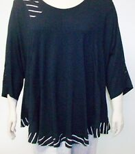 JEAN MARC PHILIPPE ,FRANCE,THEIR SIZE 8,U.S.-30,BLACK AND WHITE TUNIC WITH LACE