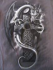 Flying Dragon on Celtic Cross Fantasy S/S T Shirt Size S (NWOT)