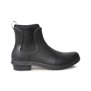 UGG CHEVONNE BLACK WATERPROOF CHELSEA RAIN BOOTS WOMEN'S BOOTS SIZE US 7 NEW
