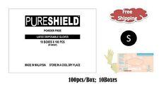 PureShield®  Latex Disposable Powder Free Gloves- SMALL 1000/CS - 6.0 Mil