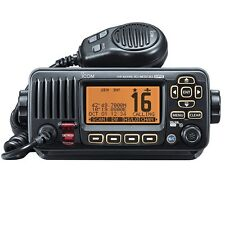 Icom M323G Fixed Mount VHF/DSC Marine Radio with Built in GPS (Black)