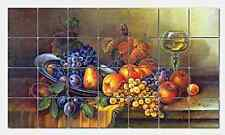 Pila Still Life with Butterfly Ceramic Mural Backsplash Kitchen 30x17 in