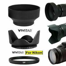 LENS HOOD + RUBBER HOOD+UV FOR Nikon AF-S DX NIKKOR 55-200mm f/4-5.6G ED VR II