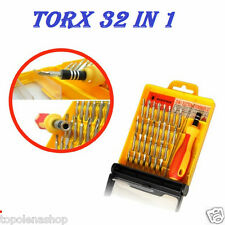 SET 32 IN 1 PUNTE DI PRECISIONE CACCIAVITI TORX PER CELLULARI OROLOGI PC