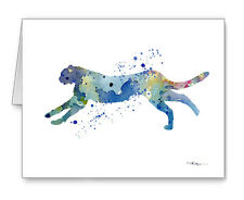 Blue Cheetah Note Cards With Envelopes