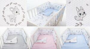 BABY DEER  BABY BEDDING SET COT OR COT BED inc BUMPER+COVERS+DUVET+ FLAT PILLOW