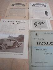 lot de 5 catalogue sur les pneus DUNLOP / GOODRICH
