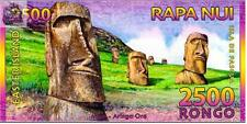 Easter Island 2011 year 2500  Rongo Polymer BrandNew Banknotes