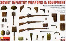 Soviética armas De Infantería & equipos 1/35 Miniart Nuevo