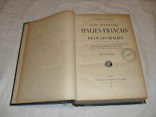dictionnaire italien français ,angeli ,lib garnier,1921